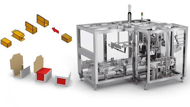 Ulma automatización en caja de cartón wrap around