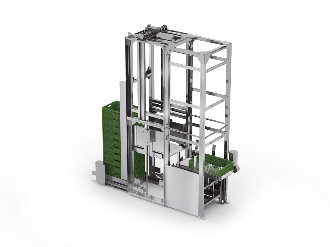 Ulma Crate de-stacking system