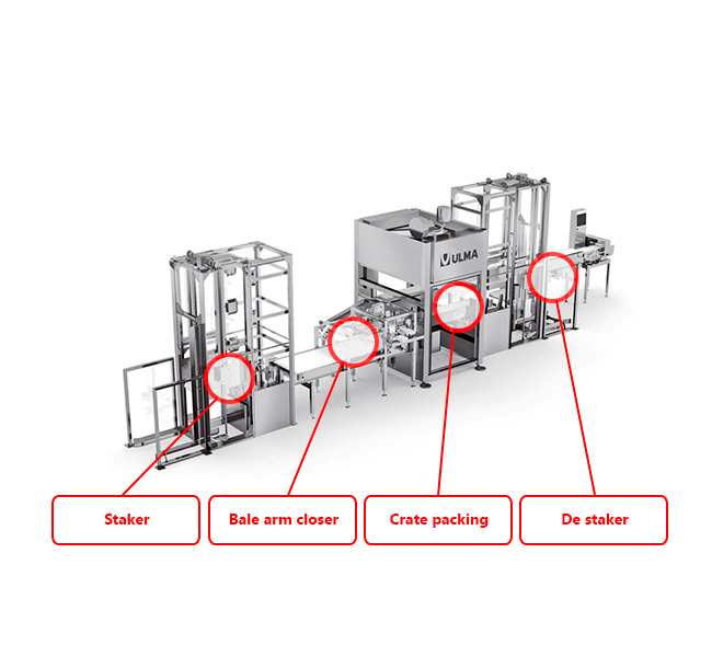 Ulma crate packing system
