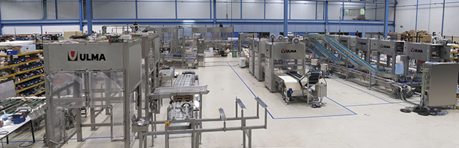 Assembly area of ULMA Packaging Automation